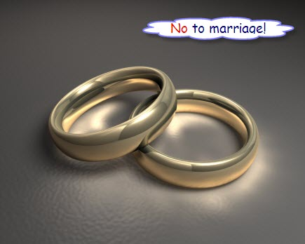 No to marriage