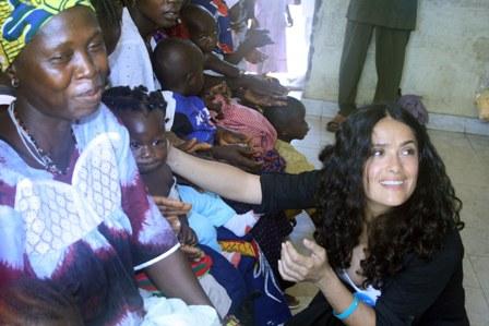 Selma Hayek in Sierra Leone