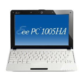 ASUS Eee PC 1005HA-VU1X-WT 10.1-Inch White Netbook