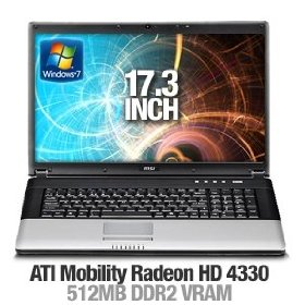 MSI CX700-053US 17.3-Inch Notebook