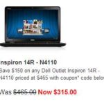 Dell Outlet Hot Deals: Dell Inspiron 14R $315, Inspiron 15R $335, Inspiron 17R $425, XPS 13 Ultrabook $815, XPS 14 Ultrabook $855 [Refurbished]