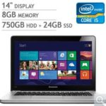$599.99 Lenovo IdeaPad U410 14″ Ultrabook w/ Intel Core i5-3317U 1.7GHz, 8GB DDR3 RAM, 750GB HDD + 24GB SSD, Windows 8 @ Costco