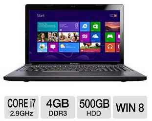 Lenovo Z580 59345242 Notebook PC Core i7-3520M 2.9GHz, 4GB DDR3, 500GB HDD, Windows 8