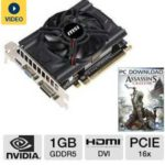Sale: $69.99 MSI GeForce GTX 650 N650-MD1GD5/OC Video Card – 1GB GDDR5, PCI-Express 3.0(x16), 1x Dual-Link DVI-I, 1x D-Sub (VGA), 1x HDMI, DirectX 11, SLI Ready, Dual-Slot, Fan @ TigerDirect.com
