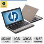 $329.99 HP 635 LJ512UT 15.6″ Notebook PC w/ AMD Dual-Core E-300 1.3GHz, 4GB DDR3, 320GB HDD, Radeon HD 6310, DVDRW @ TigerDirect