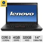 $399.99 Lenovo ThinkPad Edge E430 3254-ACU 14″ Notebook PC w/ Core i3-2350M 2.3GHz, 4GB DDR3, 320GB HDD, DVDRW @ TigerDirect