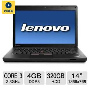 "Lenovo ThinkPad Edge E430 3254-ACU 14"" Notebook PC w/ Core i3-2350M 2.3GHz, 4GB DDR3, 320GB HDD, DVDRW"
