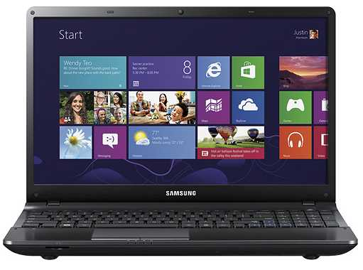 Samsung NP300E5C-A0CUS 15.6-Inch Laptop w/ Intel Pentium B950 CPU, 4GB DDR3, DVD±RW, 500GB HDD, Windows 8 64-bit