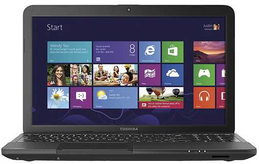 "Toshiba Satellite C855D-S5303 15.6"" Laptop w/ AMD Dual-Core E-300, 2GB DDR3, 320GB HDD, Windows 8"