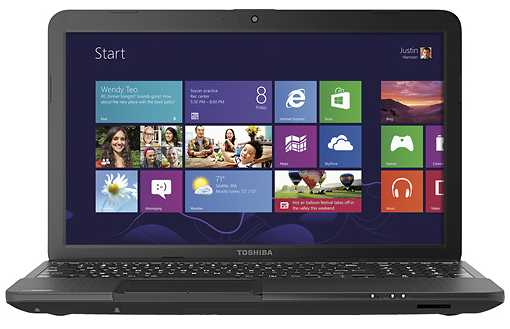 "Toshiba Satellite C855D-S5305 15.6"" Laptop w/ AMD Dual-Core E-450, 4GB DDR3, 320GB HDD, DVD±RW, Windows 8"