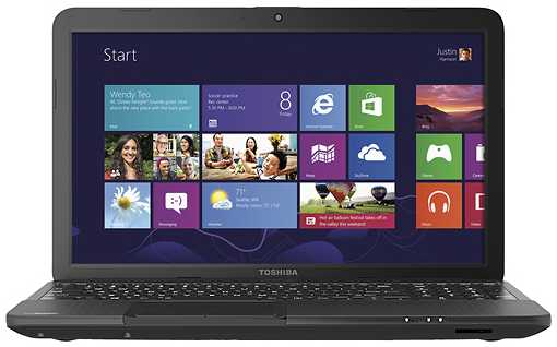 "Toshiba Satellite C855D-S5307 15.6"" Laptop w/ AMD A6-4400M, 4GB DDR3 RAM, 500GB Storage, Radeon HD 7520G, Windows 8"