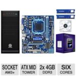 TigerDirect: AMD Phenom II Six Core Gigabyte 760G Motherboard 8GB DDR3 Barebones Bundle $170.99