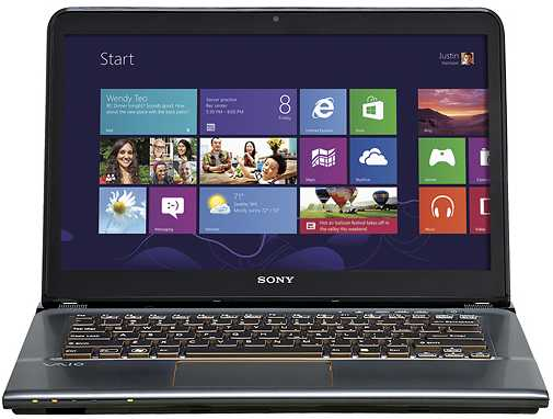 "Sony VAIO SVE14A27CXH 14"" Touch-Screen Laptop w/ Core i7 Processor, 8GB DDR3, 1TB HDD, Windows 8"