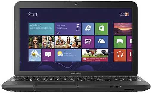 "Toshiba Satellite C855D-S5100 15.6"" Laptop w/ AMD Dual-Core E-300, 4GB DDR3, 320GB HDD, DVD±RW, Windows 8"