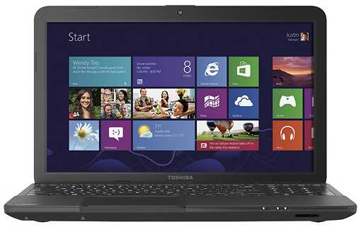 "Toshiba Satellite C855D-S5110 15.6"" Laptop w/ AMD A6-4400M, 4GB DDR3, 500GB HDD, Windows 8"