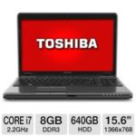 $799.99 Toshiba Satellite P755-EZ1511D 15.6″ Notebook w/ Core i7-2670QM 2.2GHz, 8GB DDR3, 640GB HDD, DVDRW, Windows 7 @ TigerDirect