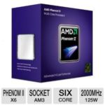 $86.39 AMD Phenom II X6 1055T Processor – AMD Phenom II X6, 2000 Bus Speed, 3072 L2 Cache, Socket AM3, 125W @ TigerDirect