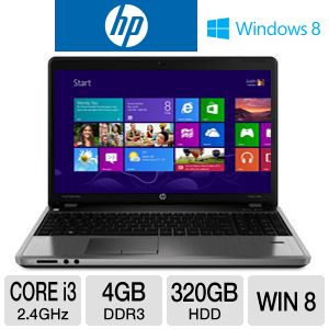 "HP ProBook 4540s C6Z35UT 15.6"" Notebook PC w/ Core i3-3110M 2.4GHz, 4GB DDR3, 320GB HDD, DVDRW, Windows 8"