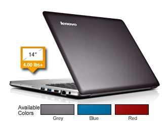 Lenovo IdeaPad U410 - 59365170 14-Inch Laptop w/ Intel Core i7-3537U, 8GB DDR3 SDRAM, 1TB HDD, Windows 8