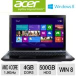 TigerDirect: Acer Aspire V3-551-8469 15.6″ Notebook PC w/ AMD Quad-Core A8-4500M 1.9GHz, 4GB DDR3, 500GB HDD, DVDRW, Windows 8 for $379.99