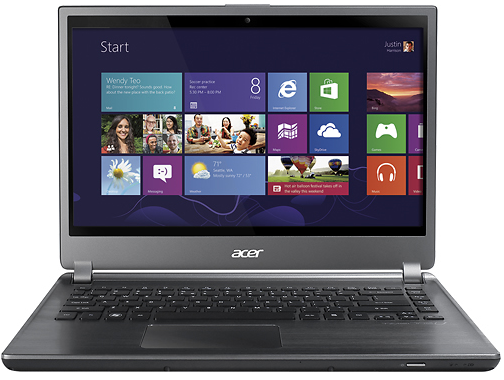 "Acer Aspire M5-481PT-6644 Ultrabook 14"" Touch-Screen Laptop w/ Core i5-3337U CPU, 6GB DDR3, 500GB HDD, DVD±RW/CD-RW, Windows 8"