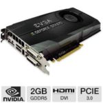 $349.99 EVGA GeForce GTX 670 FTW 02G-P4-2678-KR Video Card – 2GB, GDDR5, PCI-Express 3.0, 1x DVI-I, 1x DVI-D, HDMI, DisplayPort, DirectX 11, Overclocked @ TigerDirect