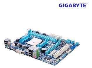 GIGABYTE GA-A75M-DS2 FM1 AMD A75 (Hudson D3) SATA 6Gb/s USB 3.0 Micro ATX AMD Motherboard with UEFI BIOS