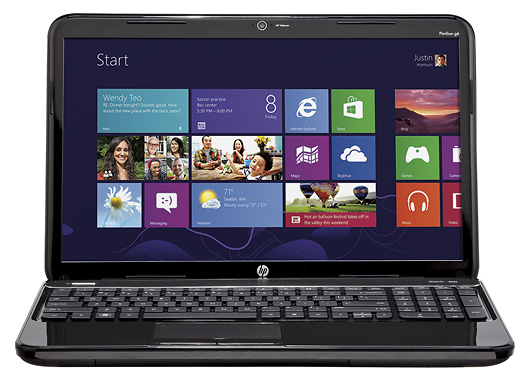"HP Pavilion g6-2321dx 15.6"" Laptop w/ AMD A6-4400M Accelerated Processor, 4GB DDR3, 500GB HDD, AMD Radeon HD 7520G, Windows 8"