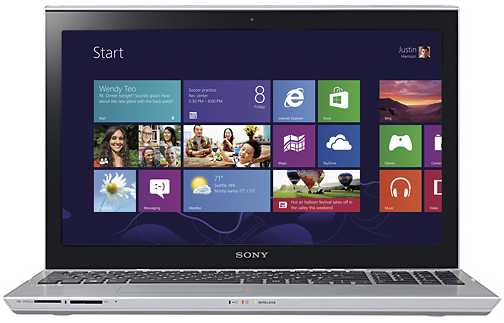 "Sony VAIO SVT15112CXS T Series 15.5"" Touch-Screen Ultrabook w/ Core i5-3337U, 8GB DDR3, 750GB HDD, Intel HD Graphics 4000, Windows 8"