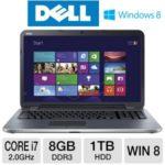 $698.97 Dell Inspiron  i17RM-2742SLV 17.3″ Notebook PC w/ Intel Core i7-3537U 2.0GHz, 8GB DDR3, 1TB HDD, DVDRW, 2GB AMD Radeon HD 8730M, Windows 8 @ TigerDirect