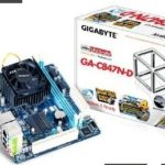 $54.99 Gigabyte Intel Celeron 847 1.1 GHz Intel NM70 Mini ITX DDR3 1333 Motherboard/CPU/VGA Combo GA-C847N-D @ Amazon