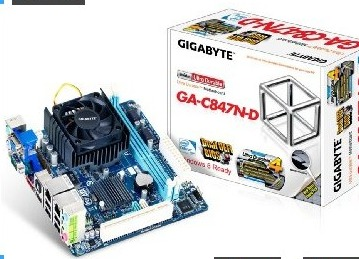 Gigabyte Intel Celeron 847 1.1 GHz Intel NM70 Mini ITX DDR3 1333 Motherboard/CPU/VGA Combo GA-C847N-D
