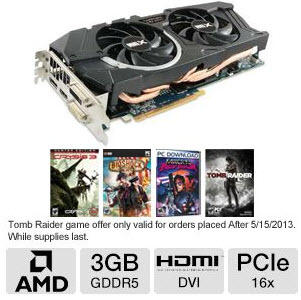 Sapphire Radeon HD 7970 11197-03-40G Video Card + 4 Free Games