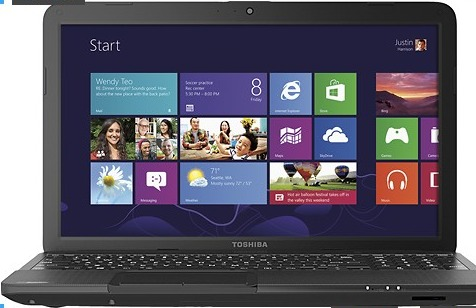"Toshiba Satellite C855D-S5104 15.6"" Laptop w/ AMD Dual-Core E-300, 4GB DDR3, 500GB HDD, Windows 8"