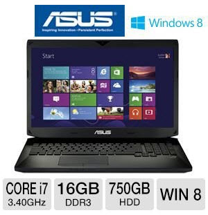 "Asus G750JX-TB71 17.3"" Notebook"