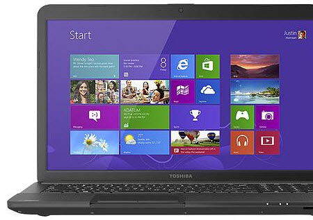 "Toshiba Satellite C875D/S7101 17.3"" Laptop w/ AMD Dual-Core E-450, 4GB DDR3, 500GB HDD, Windows 8"