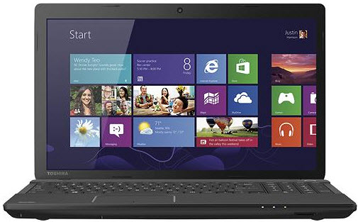 "Toshiba Satellite C55-A5204 15.6"" Laptop w/ Core i3-3120M, 4GB DDR3, 500GB HDD, Windows 8"