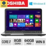 $599.99 Toshiba L855-S5383 PSKFUU-02X003 15.6″ Notebook PC w/ Intel Core i7-3630QM 2.4GHz, 8GB DDR3, 640GB HDD, DVDRW, Windows 8 @ TigerDirect