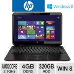 Price Drop: $380 HP ENVY 6z-1100 15.6″ Sleekbook w/ AMD Dual-Core A6-4455M 2.1GHz, 4GB DDR3, 320GB HDD, AMD Radeon HD 7500G, Windows 8 @ TigerDirect