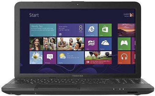 """Toshiba Satellite C55D-A5208 15.6"""" Laptop w/ AMD Quad-Core A6-5200, 4GB DDR3, 500GB HDD, Windows 8"""