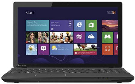 "Toshiba Satellite C55Dt-A5307 15.6"" Touch-Screen Laptop w/ AMD quad-core A6-5200, 4GB DDR3, 500GB HDD, Windows 8"